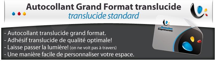 Grand format autocollant translucide