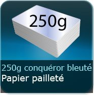 250g Conquror mtallis Blanc Azur