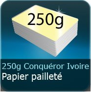 250g Conquror mtallis Ivoir Dor