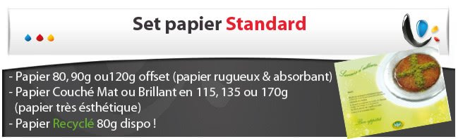 Set en papier STANDARD